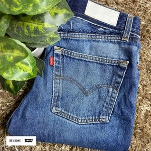 RE/DONE X Levi's High Rise Straight Ankle Jeans